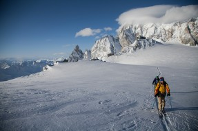 Backcountry on Mont-Blanc glacier