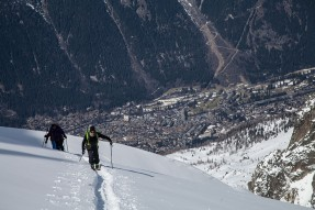 Backcountry runs in Chamonix