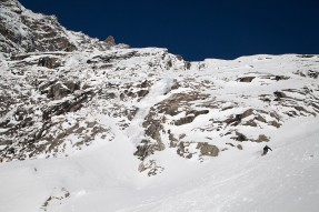 Freeride on Rochefort glacier - Courmayeur